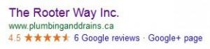 rooterway google 6 reviews